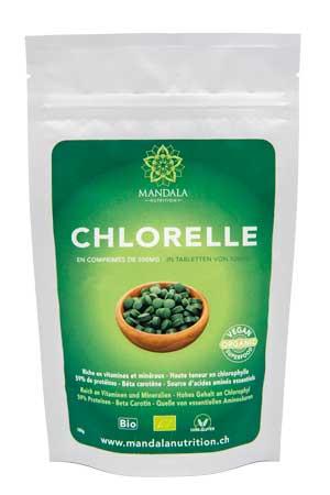 Chlorelle en comprimés de 500mg